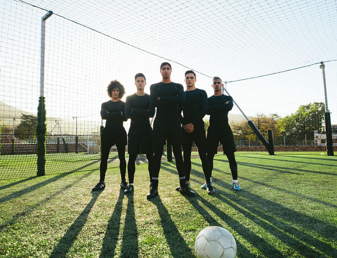 Group of footballers