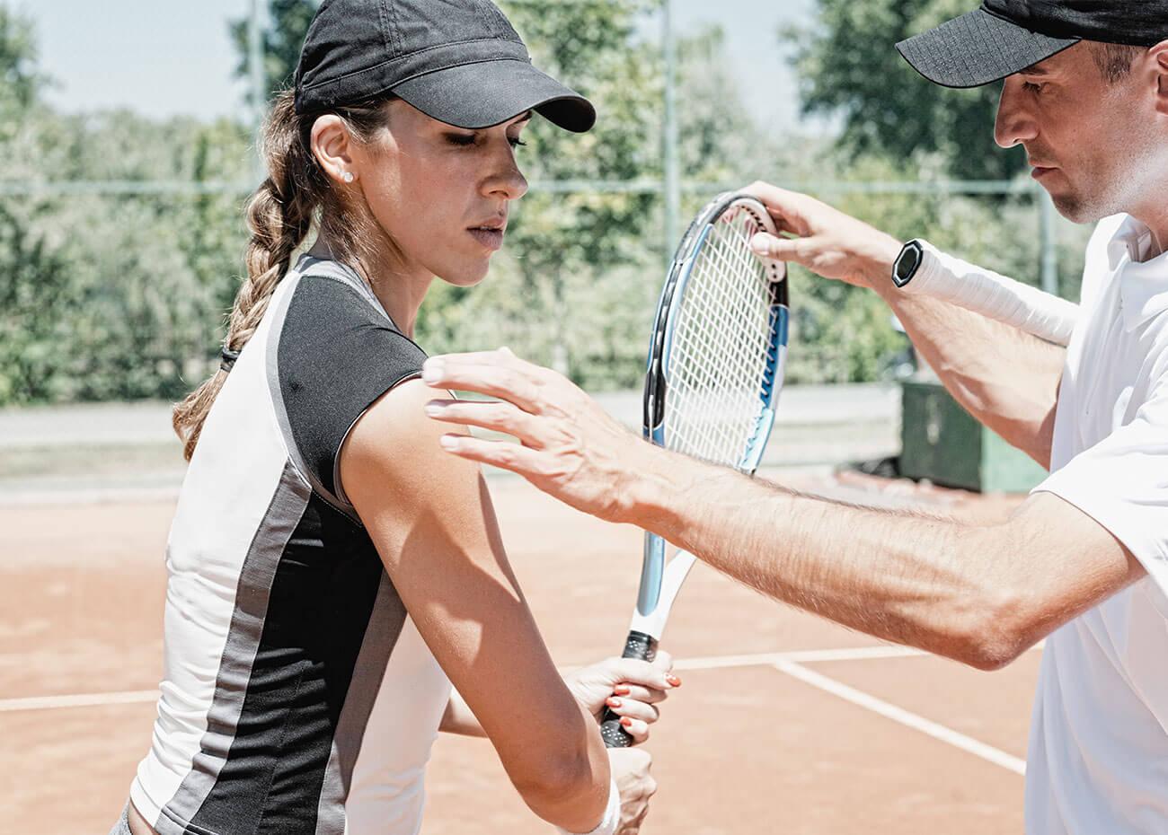 Coaching tennis